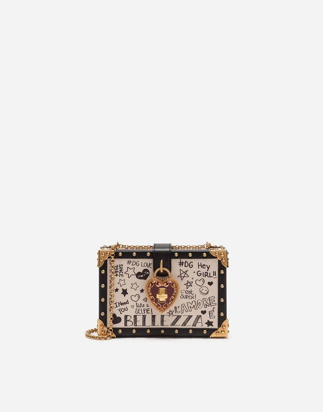 Dolce&Gabbana VELVET MY HEART CLUTCH WITH MURAL PRINT