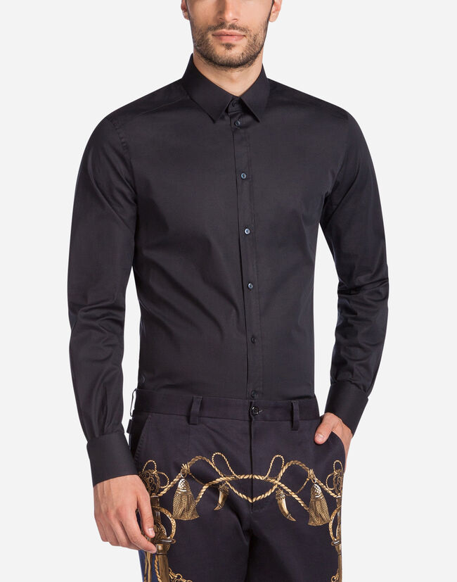 Dolce & Gabbana GOLD FIT SHIRT IN STRETCH COTTON
