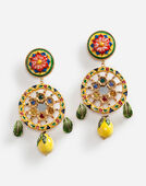 PENDANT EARRINGS WITH DECORATIVE ELEMENTS