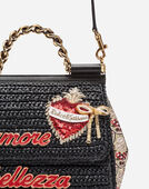 Dolce&Gabbana SICILY HANDBAG IN RAFFIA AND BROCADE