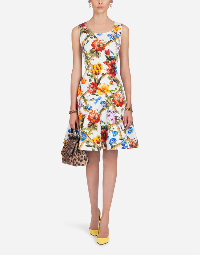 PRINTED COTTON DRILL DRESS
