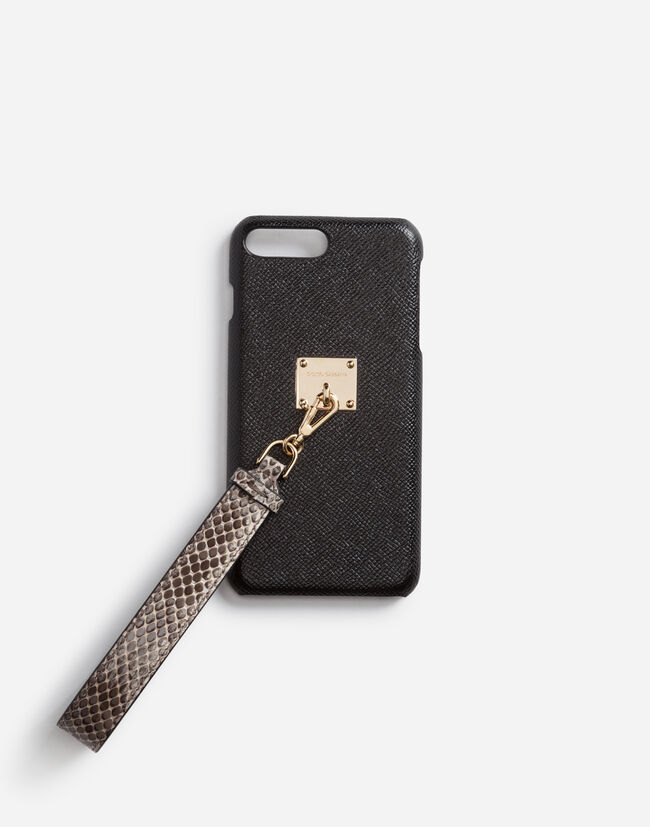Dolce & Gabbana COVER IN DAUPHINE CALFSKIN WITH AYERS SNAKESKIN WRIST STRAP