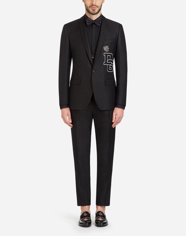 MARTINI FIT SUIT IN JACQUARD WITH PATCH