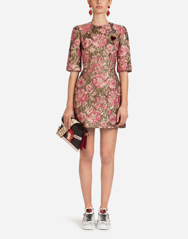 JACQUARD DRESS WITH PATCH