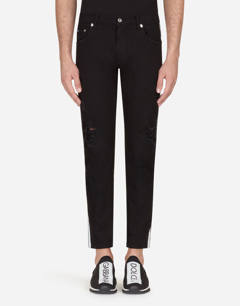 Dolce   Gabbana SKINNY FIT STRETCH JEANS WITH SIDE BANDS d1144b47f581