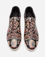 PRINTED LEATHER LONDON SNEAKERS