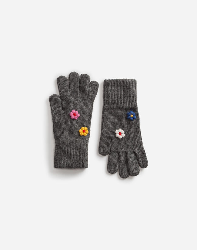 WOOL GLOVES WITH APPLIQUÉ