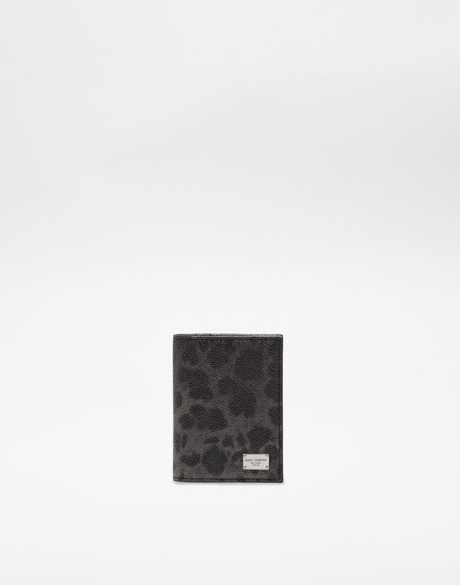 CARDHOLDER IN LEOPARD TEXTURED LEATHER