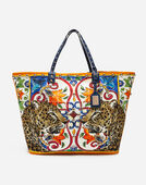 CANVAS BEATRICE SHOPPING BAG WITH EMBROIDERY