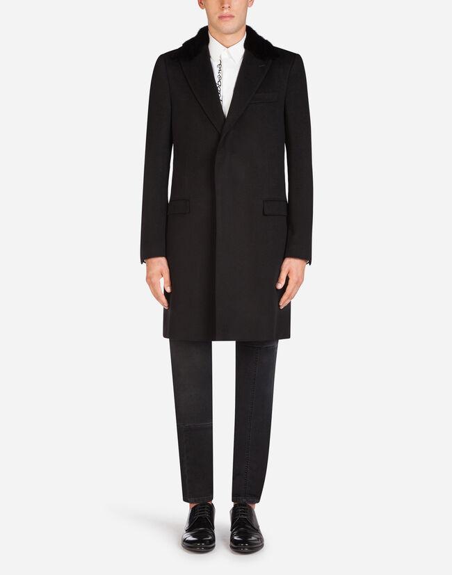 6e9ea71bff000 Manteaux Homme   Dolce Gabbana - MANTEAU EN LAINE ET CACHEMIRE AVEC ...