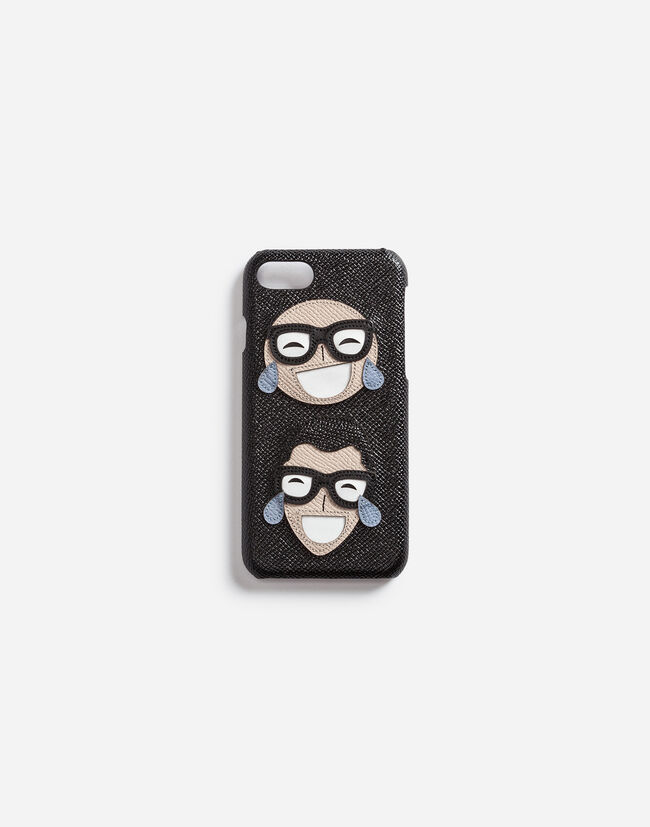 DAUPHINE CALFSKIN IPHONE 7 COVER WITH DESIGNERS' PATCH