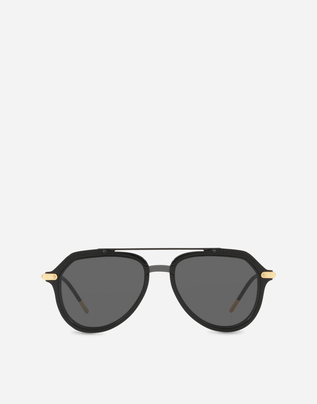PILOT SUNGLASSES IN ACETATE WITH DOUBLE BRIDGE