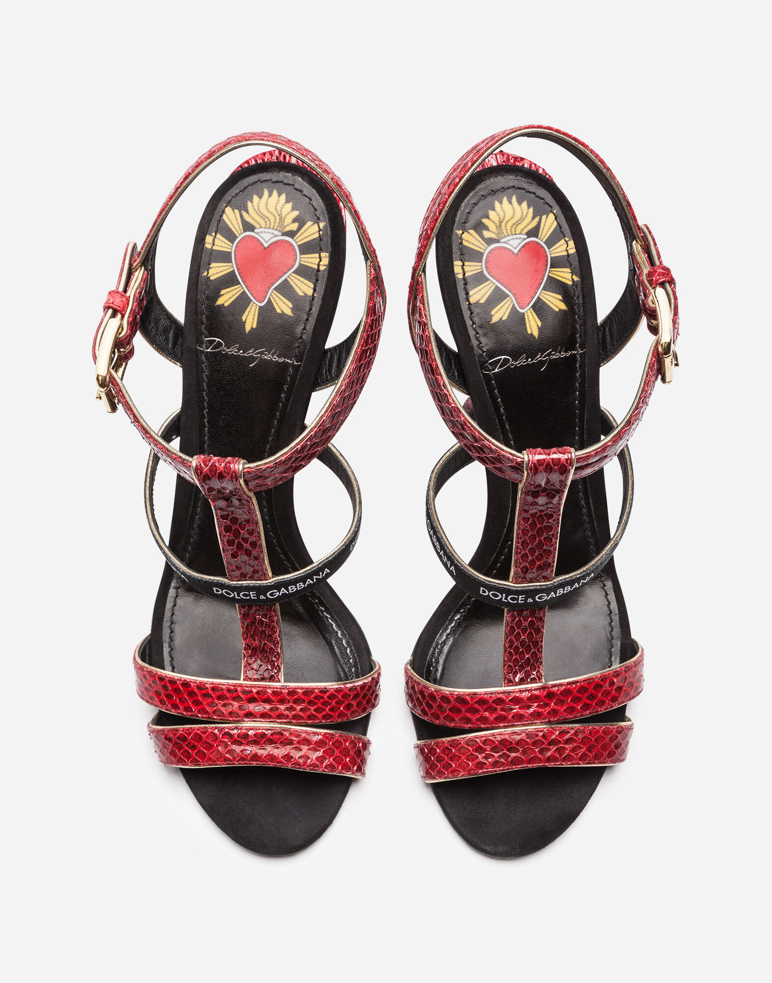 sports shoes e2004 78ac7 Dolce E Gabbana Women'S Red Leather Sandals