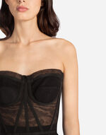 BUSTIER TOP IN TULLE