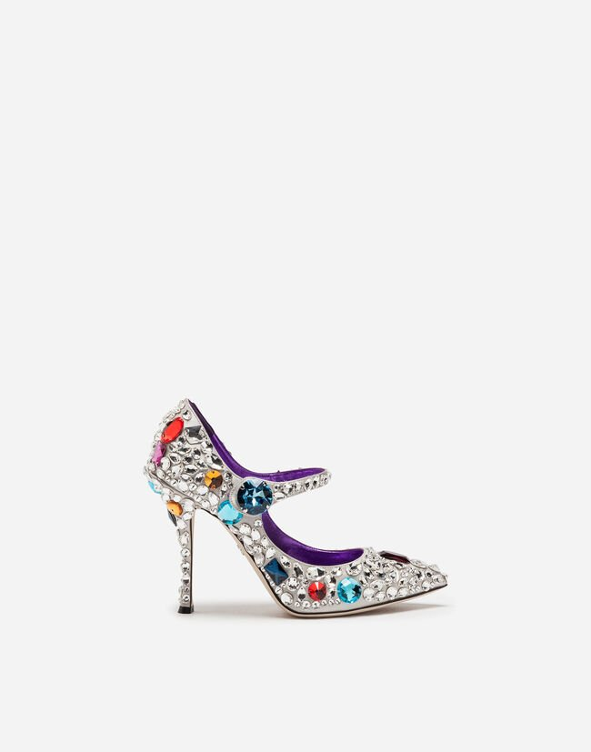 Dolce & Gabbana MARY JANE IN SATIN WITH EMBROIDERIES