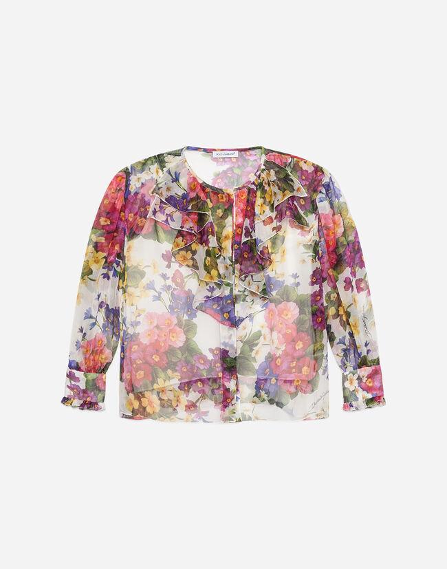 Dolce&Gabbana SHIRT IN PRINTED SILK TWILL
