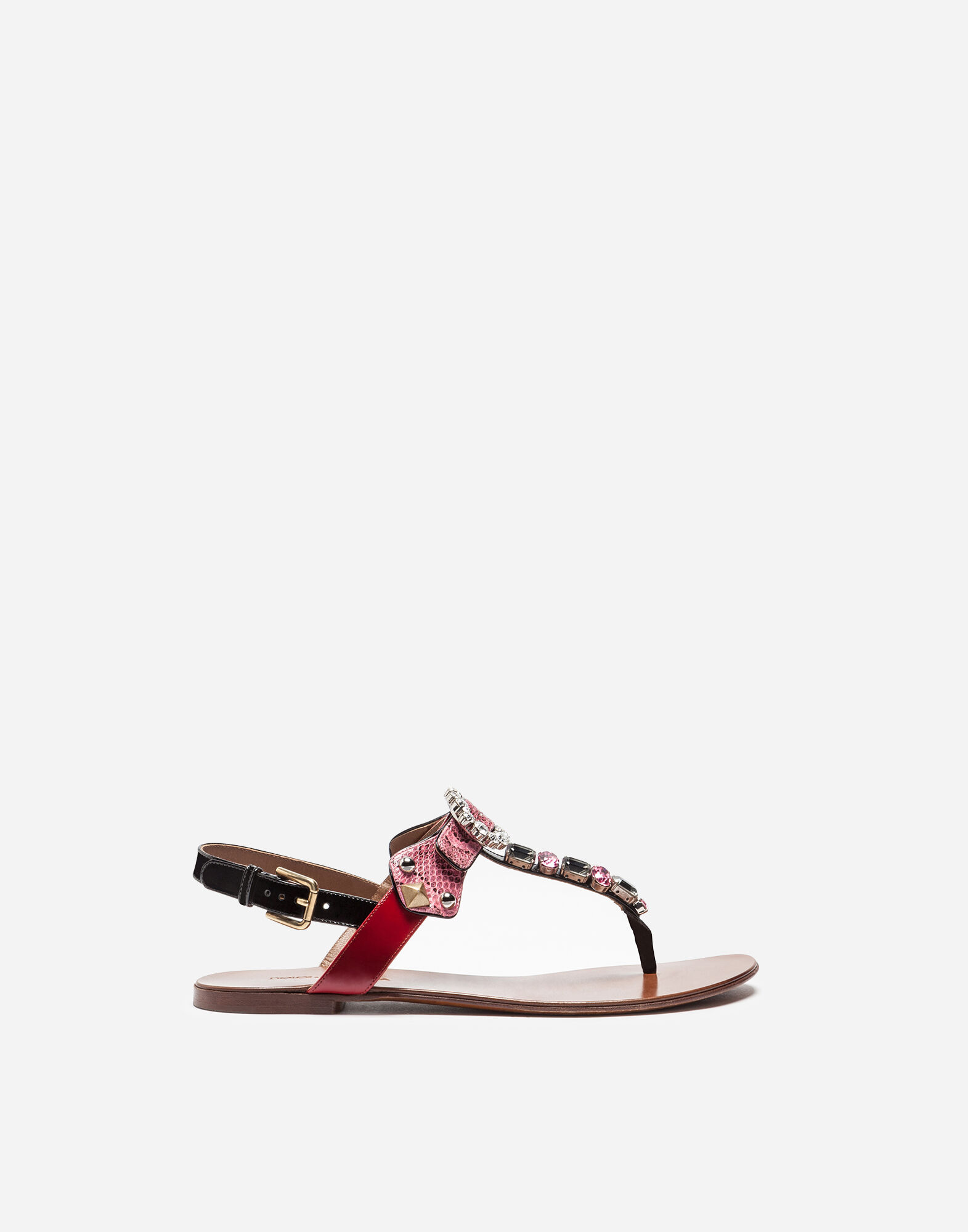 Printed Crepe Sandals With Sculpted HeelDolce & Gabbana nnxvxuz