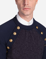 ROUND NECK WOOL AND JACQUARD SWEATER