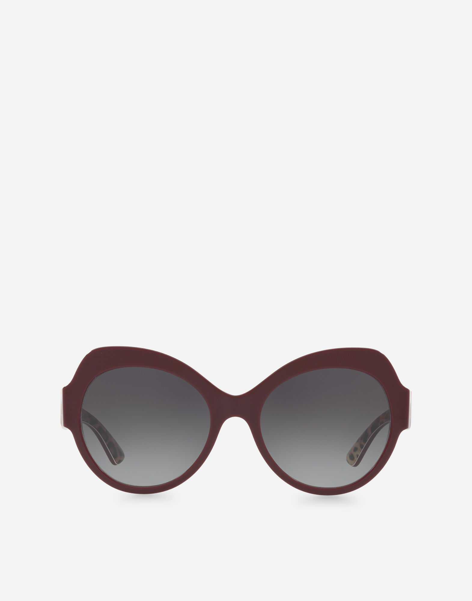 5801e21ccb8dc Dolce   Gabbana Butterfly Sunglasses In Acetate In Bordeaux On Leopard  Print Base
