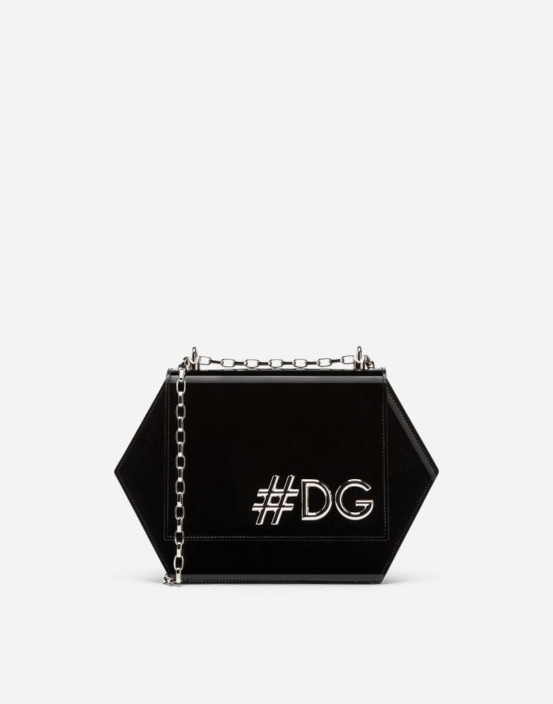 DG GIRLS HEXAGONAL CROSS-BODY BAG IN PATENT LEATHER
