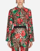 Dolce & Gabbana BLOUSE IN PRINTED SILK