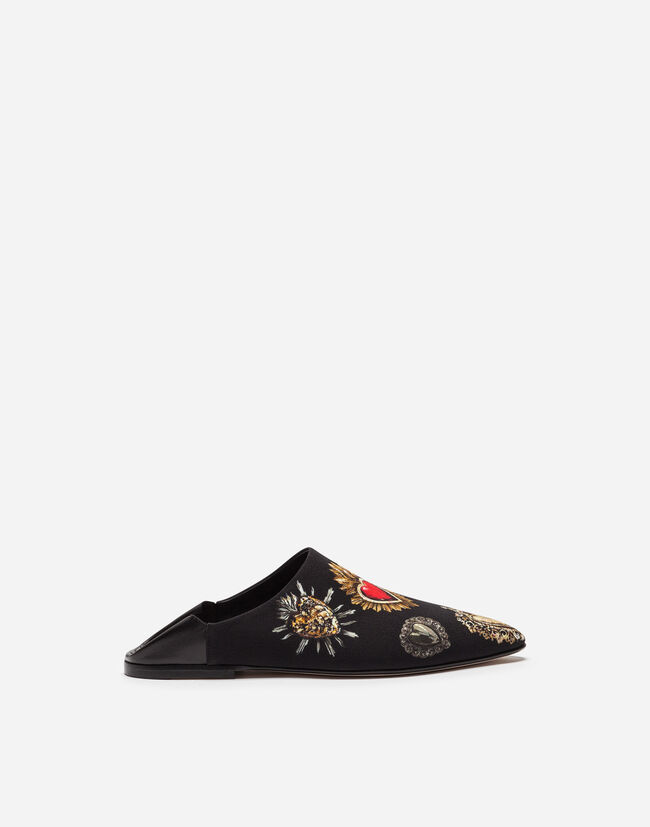 Dolce & Gabbana SLIPPERS IN PRINTED CADY