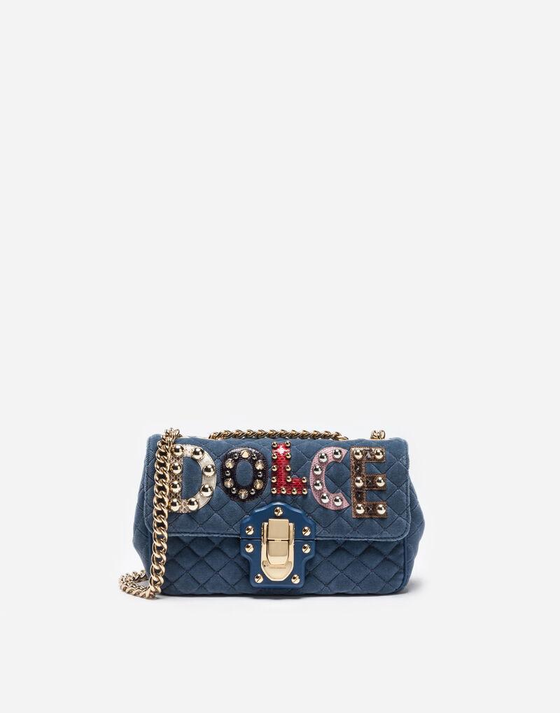 VELVET LUCIA SHOULDER BAG WITH PATCH