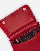 Dolce&Gabbana MEDIUM SICILY BAG IN IGUANA PRINT CALFSKIN WITH DG LOGO CRYSTALS