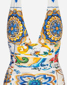 Dolce & Gabbana PRINTED ONE-PIECE SWIMSUIT