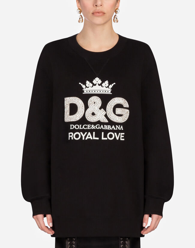 941761c3 Women's T-shirts and Sweatshirts | Dolce&Gabbana - COTTON SWEATSHIRT