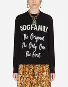 Dolce&Gabbana CASHMERE AND WOOL SWEATER WITH LETTERING