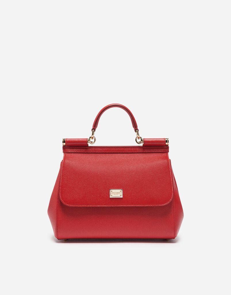 Dolce Gabbana Medium Sicily Handbag In Dauphine Leather