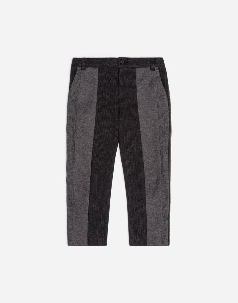 COTTON AND CASHMERE BLEND PANTS