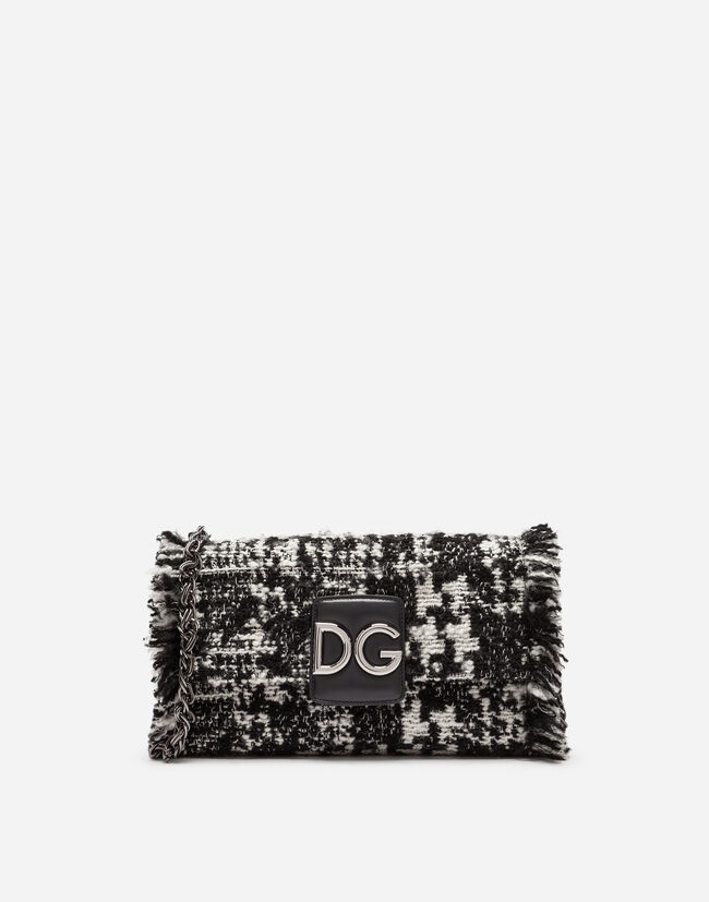 DG MILLENNIALS SHOULDER BAG IN TWO-TONE TWEED