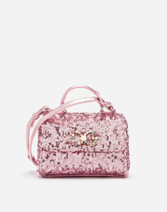Dolce & Gabbana SEQUINED HANDBAG WITH APPLIQUÉ