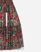 Dolce & Gabbana PRINTED SILK SKIRT PANTS