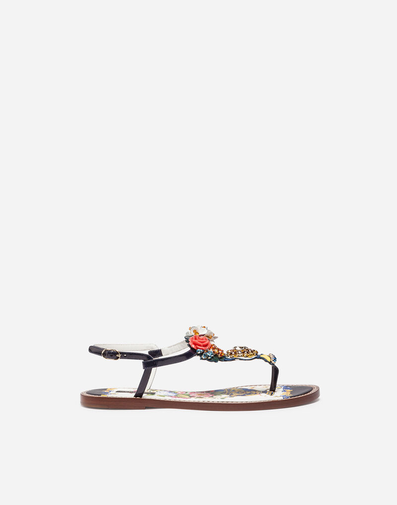 BEJEWELED THONG SANDALS
