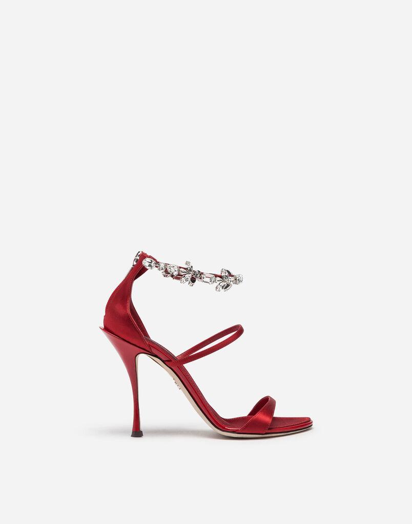 9086a17a1452 Dolce   Gabbana SATINSANDALE MIT STICKEREI. Auswählen Grösse