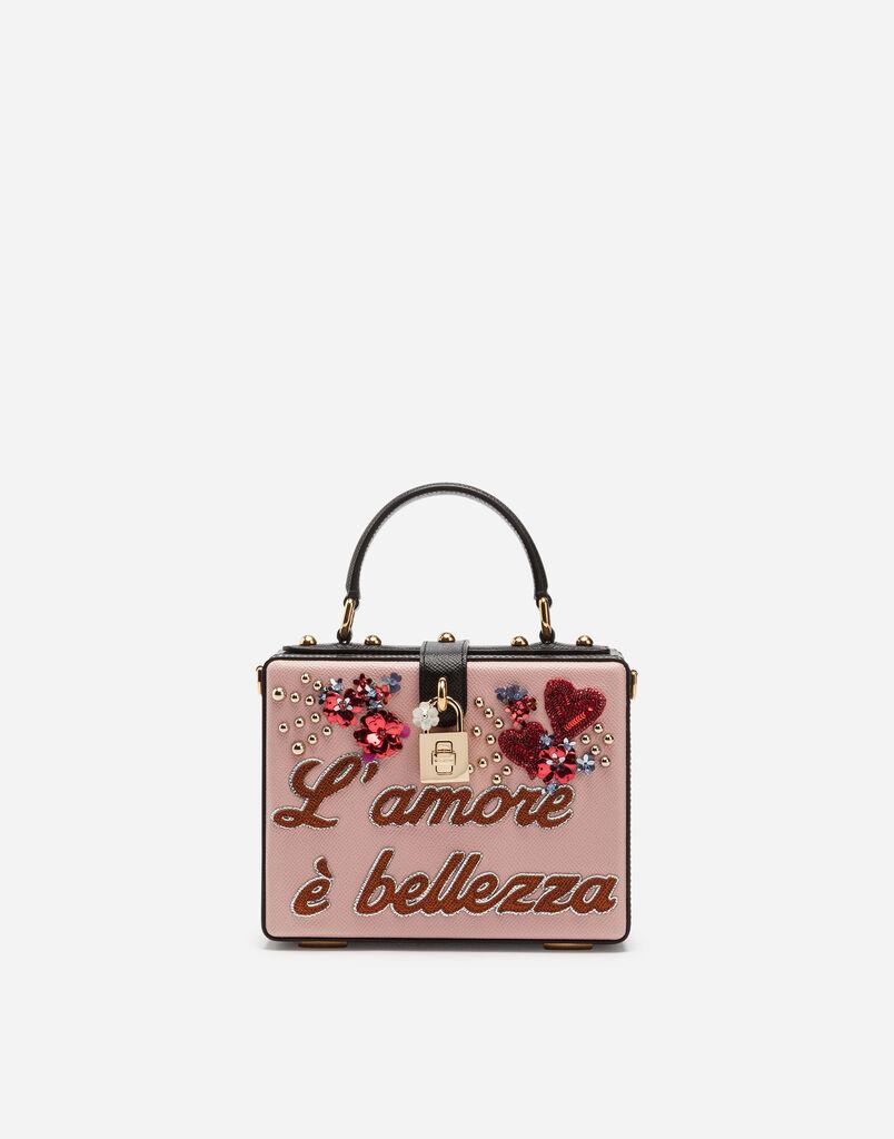 Dolce&Gabbana DOLCE BOX BAG IN DAUPHINE CALFSKIN