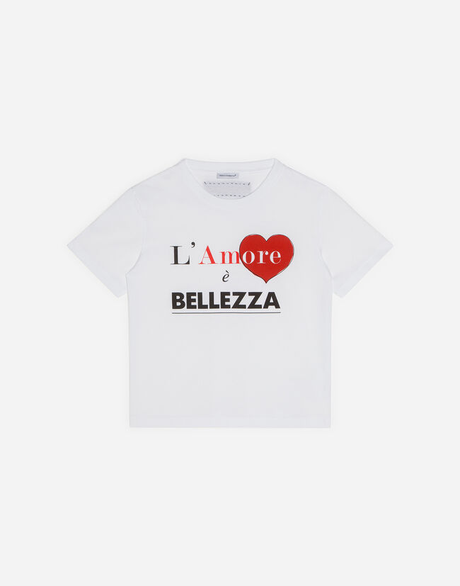 Dolce&Gabbana T-SHIRT WITH L'AMORE E' BELLEZZA PRINT