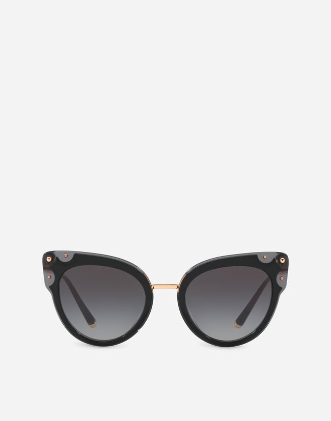 Dolce & Gabbana CAT-EYE ACETATE SUNGLASSES WITH METAL DETAILS