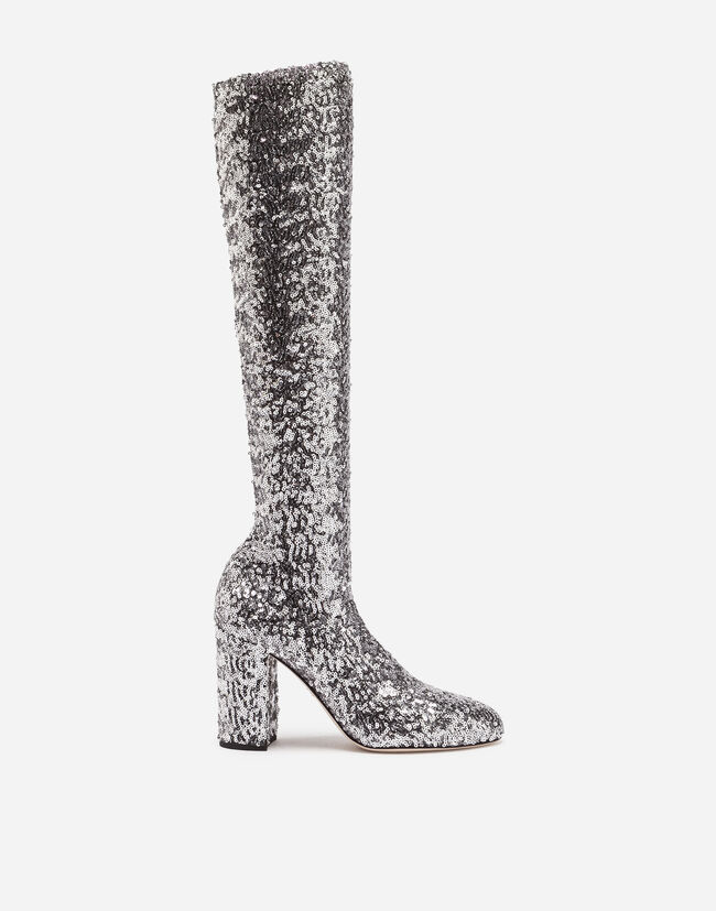BOOTS IN STRETCH SEQUINS