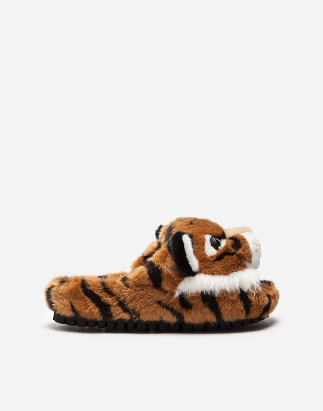 Dolce&Gabbana FAUX FUR SLIPPERS