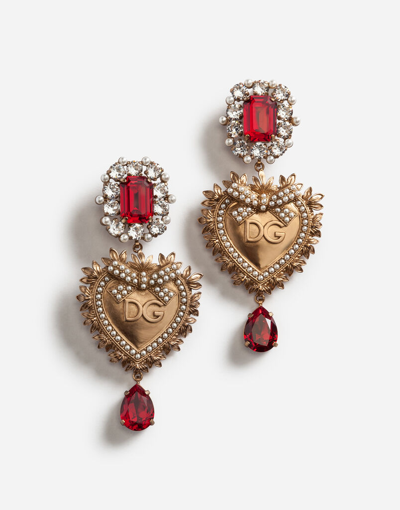 Dolce&Gabbana PENDANT EARRINGS WITH DECORATIVE ELEMENTS