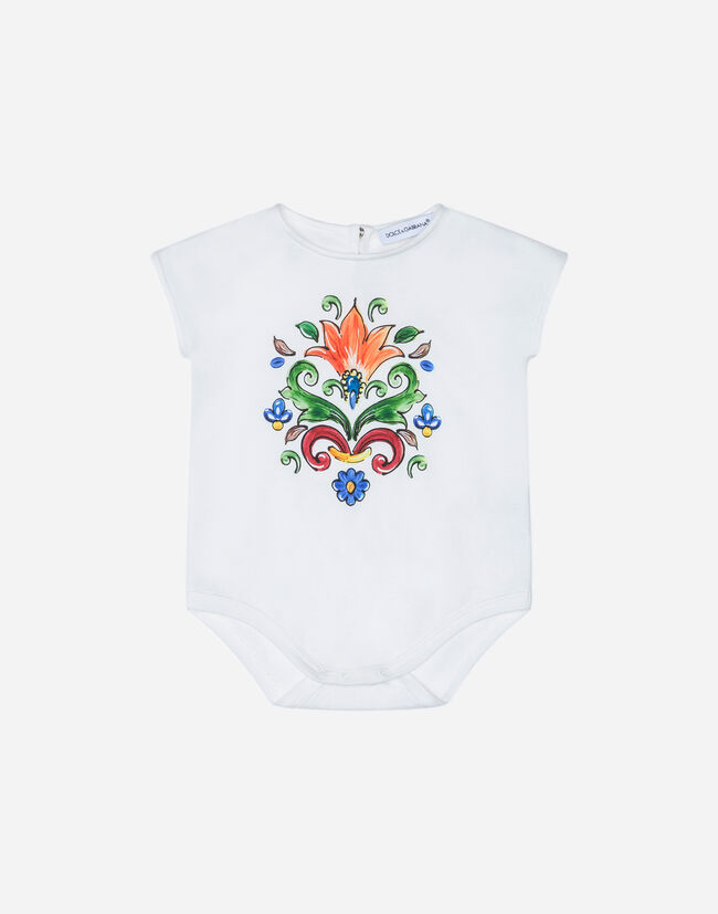 PRINTED COTTON BODYSUIT
