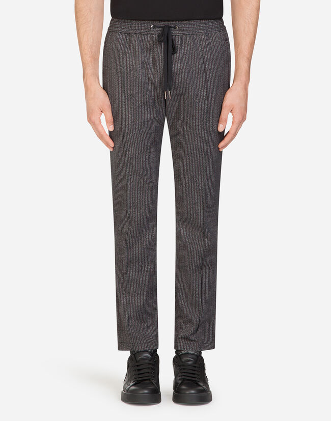 Dolce&Gabbana JOGGING PANTS IN PRINTED STRETCH COTTON