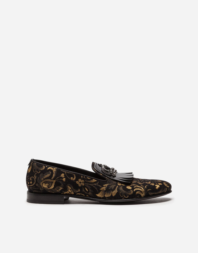 Dolce & Gabbana JACQUARD LOAFERS WITH FRINGE