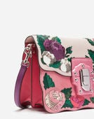 LUCIA SHOULDER BAG IN CALFSKIN AND AYERS WITH APPLIQUÉ DETAILS