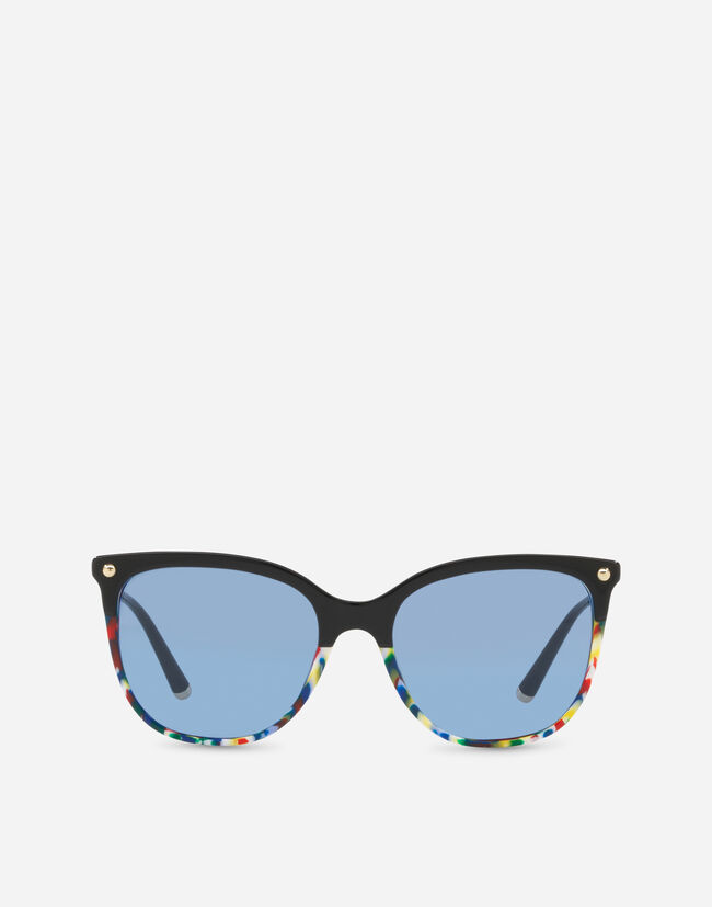 SQUARE SUNGLASSES IN ACETATE WITH METALLIC DETAILS
