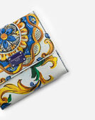 FRENCH FLAP WALLET IN MAJOLICA-PRINT DAUPHINE CALFSKIN